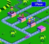 Micro Machines V3 Game Boy Color Main menu.