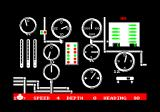 Silent Service Amstrad CPC Navigation controls and gages