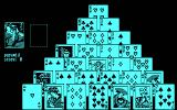 Solitaire Royale DOS Starting a game of Pyramid (CGA)