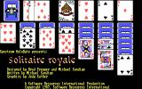Solitaire Royale DOS Title Screen (EGA)