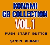 Konami GB Collection Vol. 1 Game Boy Color Title screen.