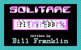 Solitare DOS Title Screen