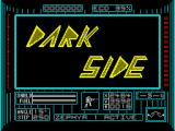 Dark Side ZX Spectrum Title screen