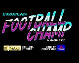 Super Soccer Champ Amiga Title screen