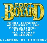 Fort Boyard Game Boy Color Title screen