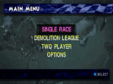 Demolition Racer PlayStation Main game screen