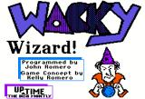 Wacky Wizard Apple II Title screen