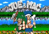 Joe & Mac: Caveman Ninja Genesis Title Screen