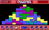 Quadrel DOS Gameplay, fill in the shapes (EGA)