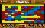 Quadrel DOS Gameplay, fill in the shapes (VGA)