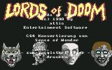 Lords of Doom Commodore 64 Title screen