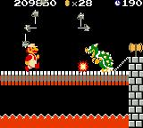 Super Mario Bros. Deluxe Game Boy Color Bowser becomes more difficult in later levels.