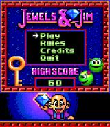 Jewels and Jim BREW Title screen