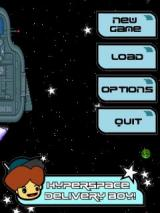 Hyperspace Delivery Boy! Windows Mobile The menu screen with secret warp trick