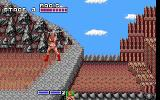 Golden Axe DOS Practising some fancy sword moves (EGA).