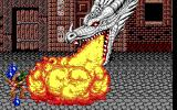Golden Axe DOS Tyris uses het magic to summon a dragon (EGA).