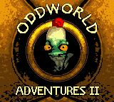 Oddworld Adventures 2 Game Boy Color Title screen.