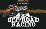 4x4 Off-Road Racing Commodore 64 Title screen