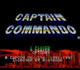 Captain Commando SNES Title/Options