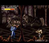 Captain Commando SNES Some cavemen watch what is happening in front of them