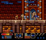 Magic Sword SNES A giant attacks you with his ball-and-chain