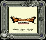 Dragon Warrior Monsters Game Boy Color Start screen