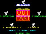 Outcast ZX Spectrum Title Page