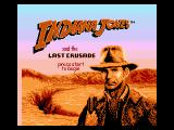 Indiana Jones and the Last Crusade NES Title Screen