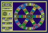 Trivial Pursuit Interactive Multimedia Game SEGA CD Classic game mode has the spokes/wheel game-board.