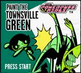 The Powerpuff Girls: Paint the Townsville Green Game Boy Color Title screen.