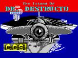 Destructo ZX Spectrum Loading screen