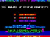 Destructo ZX Spectrum Title screen
