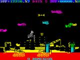 Destructo ZX Spectrum Going down after the collision with insidious chopper