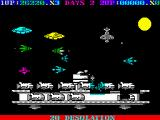 Destructo ZX Spectrum This ship is 'guarded' by a lot of harmless spacecrafts