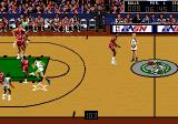Bulls vs. Lakers and the NBA Playoffs Genesis If you hold down the pass-button, instead of just tapping it once, you can select the player to whom you want to pass