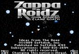 Zappa Roidz Apple II Title screen with credits