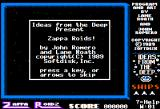 Zappa Roidz Apple II Demo mode screen shot