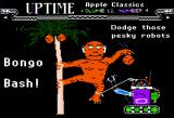 Bongo's Bash Apple II UpTime version title screen