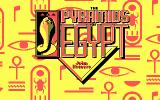 Pyramids of Egypt DOS DOS Title Screen
