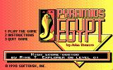 Pyramids of Egypt DOS DOS Menu Screen