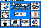 Jumpster Apple II UpTime menu screen