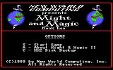 Might and Magic II: Gates to Another World Commodore 64 Menu screen