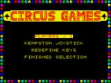 Circus Games ZX Spectrum Main menu