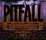Pitfall: The Mayan Adventure SNES Title screen