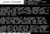 Cavern Crusader Apple II Instruction page 1