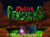 Mutant Penguins DOS Title screen