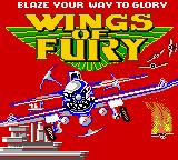 Wings of Fury Game Boy Color Title screen