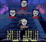 Towers: Lord Baniff's Deceit Game Boy Color Player selection.