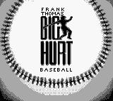 Frank Thomas Big Hurt Baseball Game Boy Title screen.