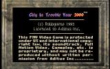 C.I.T.Y. 2000 DOS Title screen